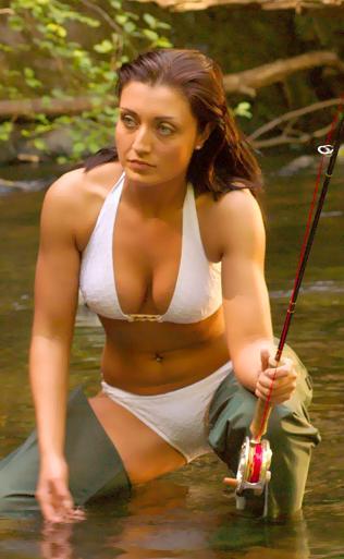 Hot chicks in bikinis are casting around, too.