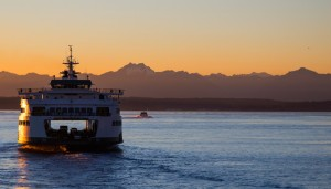 Washington State ferry, Olympic Range