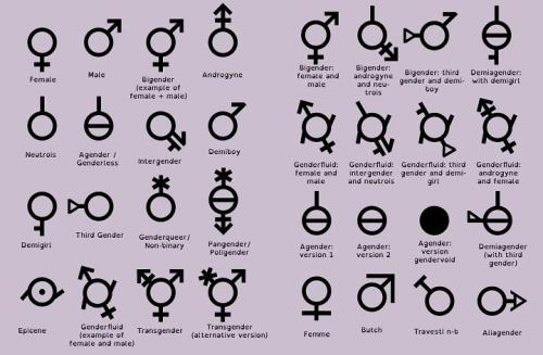 Helpful gender chart it s only words