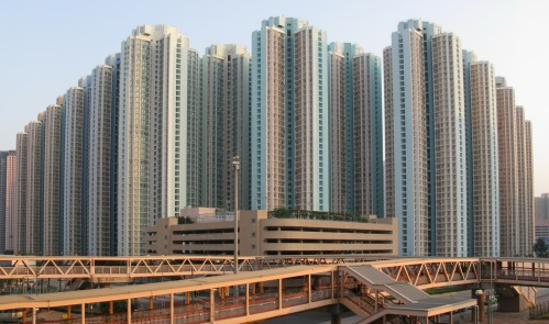 High rise housing in Hong Kong